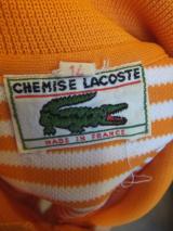 ヨーロッパ古着  Made in France LACOSTE  オレンジ&ホワイトボーダー・スポーティワンピース  8,900円(税抜・送料込)   http://www.fripe.jp/item/2-130-927/