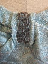 ヨーロッパ古着  ペールブルーxシルバーラメテキスタイルにビーズの装飾  クラシカルカクテルドレス  14,800円(税抜・送料込)  http://www.fripe.jp/item/2-027-920/