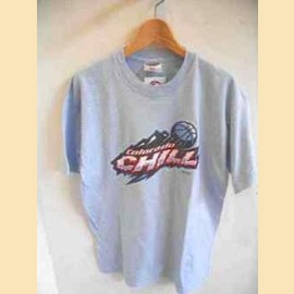 ヨーロッパ古着水色CHILLTTシャツ