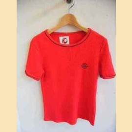 ヨーロッパ古着赤マリンTシャツ