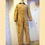 ベージュ×茶ジャンプスーツ